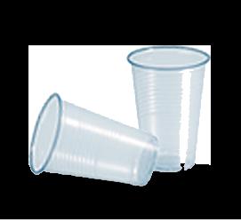 Blauw transparante plastic beker