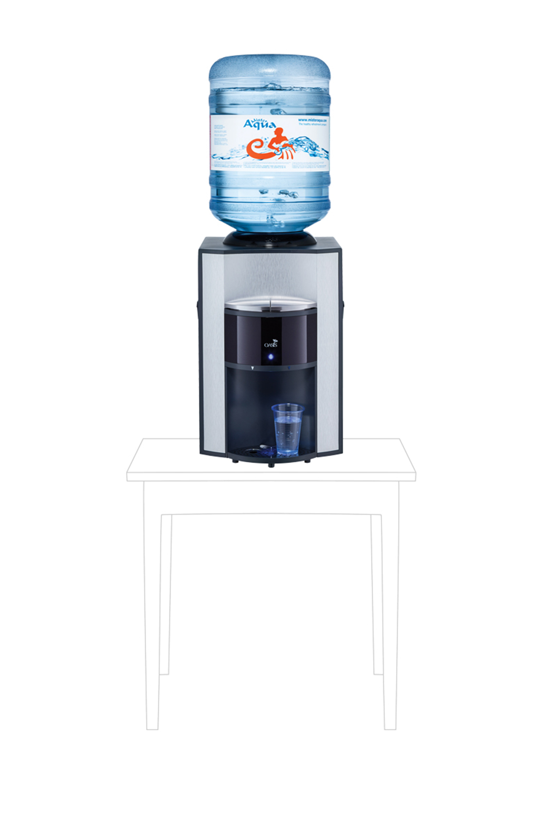 Onyx-Flessenwaterkoeler-Tafelmodel