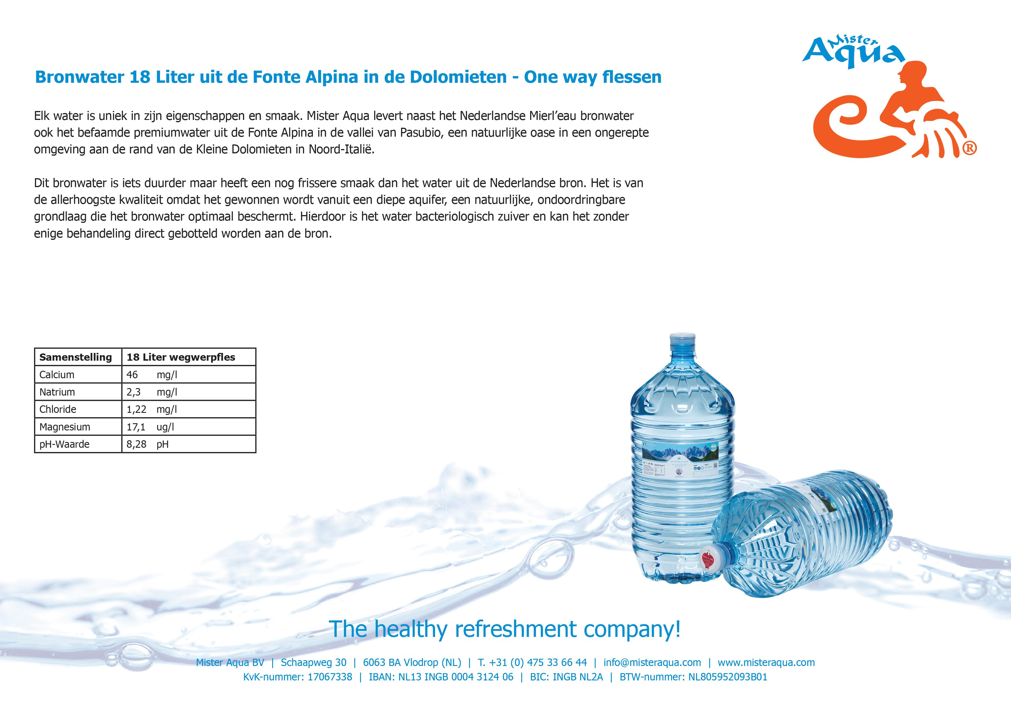 bronwater 18 liter