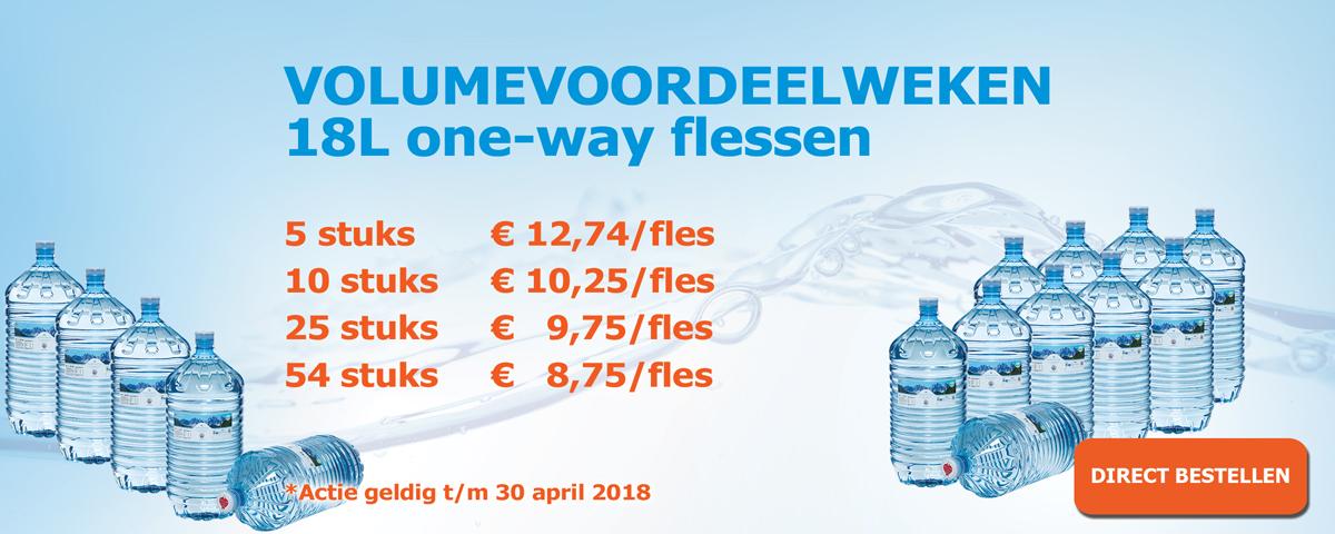 18L one-way flessen voordeel